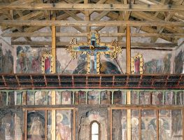 The wall painting of the Church of Aghioi Apostoloi is a work of painter Onoufrios (1547 AD)