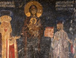 The founders of the Church of Aghioi Anargyroi: Theodoros Limniotis and Anna Radini